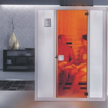 infrarotkabine viva f r 2 personen ideal f rs badezimmer. Black Bedroom Furniture Sets. Home Design Ideas